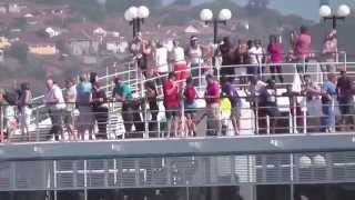MSC Opera departs Durban, South Africa, March 24 2014