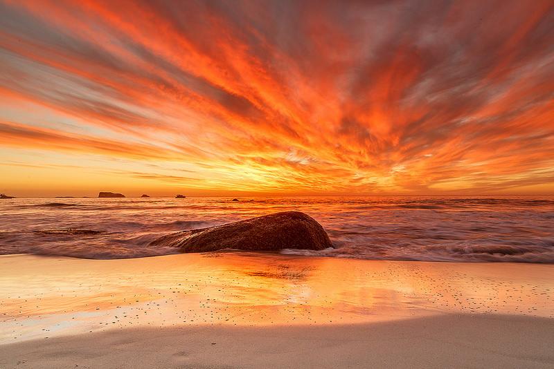 Sunset at Clifton beach
